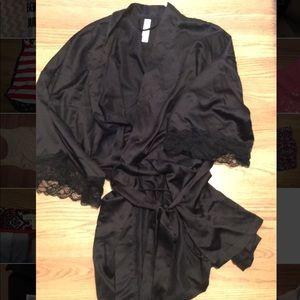 Other - Black silk robe